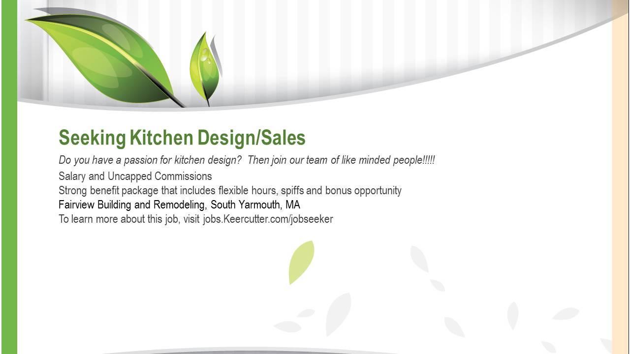 fairview millwork seeking kitchen design/sales professional